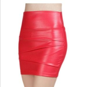Vegan Leather Mini Skirt❤️